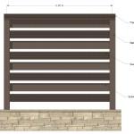 Gard WPC Varianta 1 - Vedere frontala