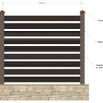 Gard WPC Varianta 3 - Vedere frontala